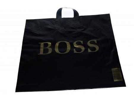 Reklamówka czarna BOSS wielorazowa 50mic - 250 szt.