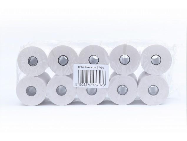 Rolki termiczne do kas fiskalnych  57mm x 30m - 140 szt.